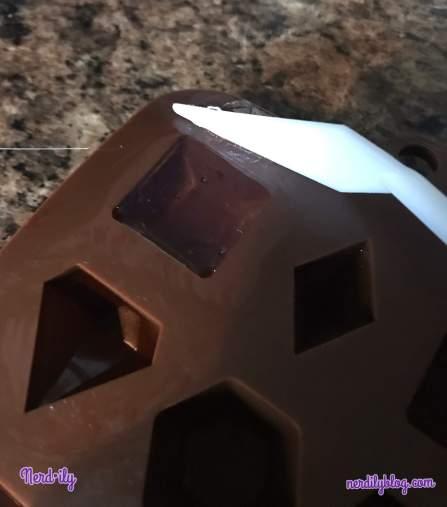 Hot glue in mold