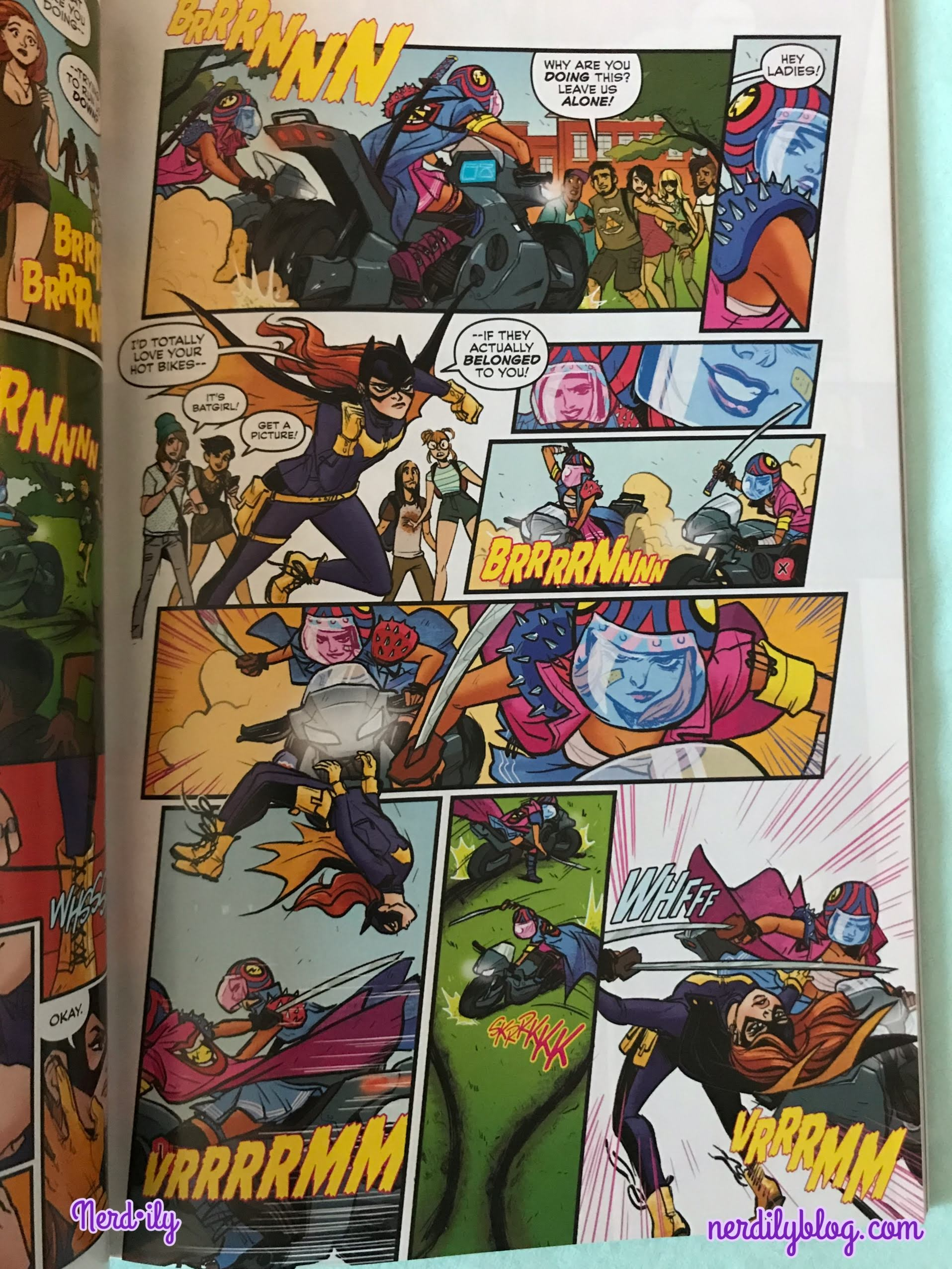 Page from Batgirl of Burnside